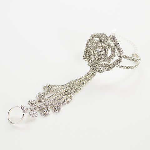 Crystal Rose Bridal Hand Chain