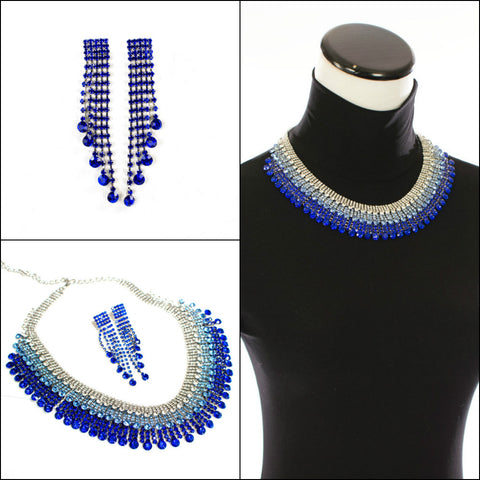 Royal Blue Fashion Necklace Set