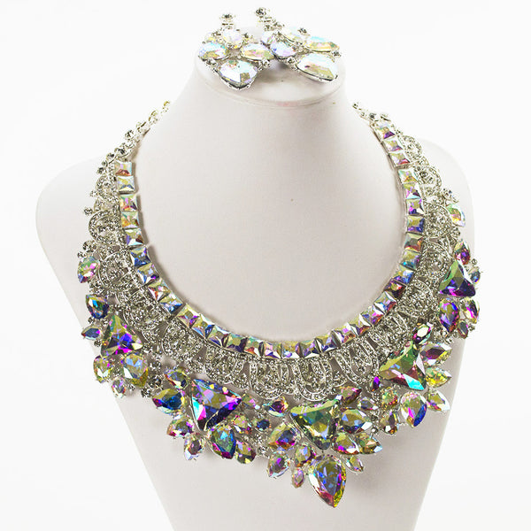 Royal Sparkle Crystal Necklace Set