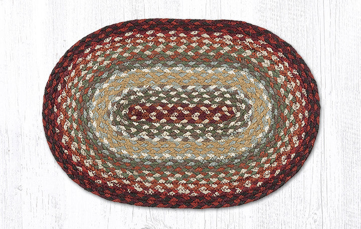 MS-417 Thistle Green/Country Red Miniature Trivet