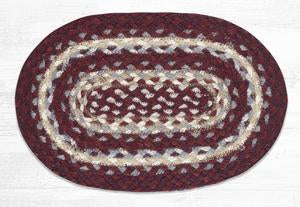 MS-791 Burgundy/Gray/Cream Trivet