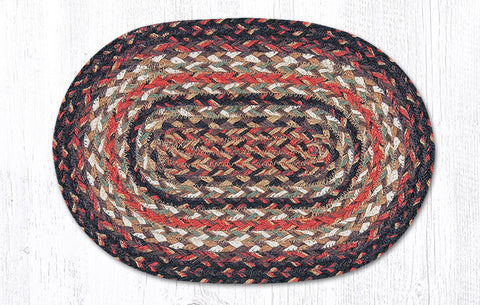 C 9-91 Scarlet Braided Rug 10