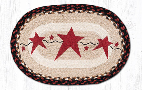 PM-OP-019 Primitive Stars Burgundy Placemat 13