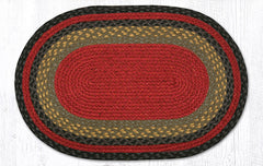 C-238 Burgundy, Olive and Charcoal Braided Rug
