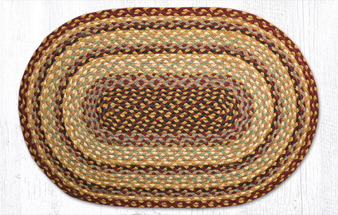 C-357 Burgundy/Gray/Creme Braided Rug