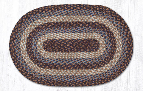 C-019 Burgundy/Mustard Braided Rug 20