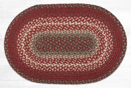 C-789 Taupe/Chestnut/Chilli Pepper Braided Rug