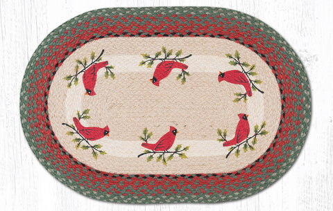 OP-025 Holly Cardinal Oval Rug