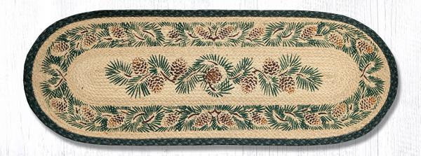 TR-025A Pinecone Oval Table Runner