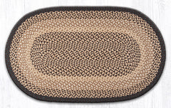 C-017 Chocolate and Natural Braided Rug