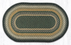 C-116 Black, Mustard and Creme Braided Rug