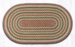C-324 Olive, Burgundy and Gray Braided Rug