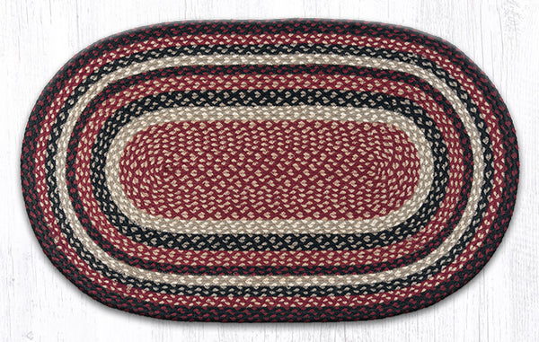 C 344 Burgundy Black And Tan Braided Rug The Braided