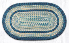 C-362 Breezy Blue, Taupe and Ivory Braided Rug