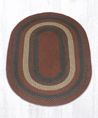 C-040 Burgundy and Gray Braided Rug
