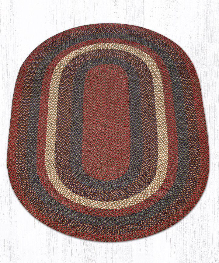 braided terrocotta the c place products rug large
