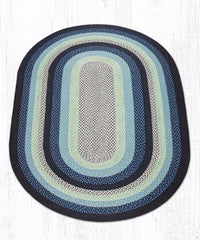 C-312 Blueberry and Cream Braided Rug