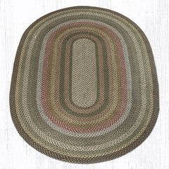 C-051 Fir and Ivory Braided Rug