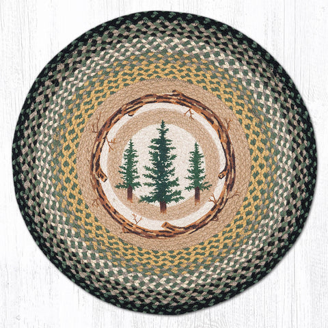 RP-116 Tall Timbers Round Rug
