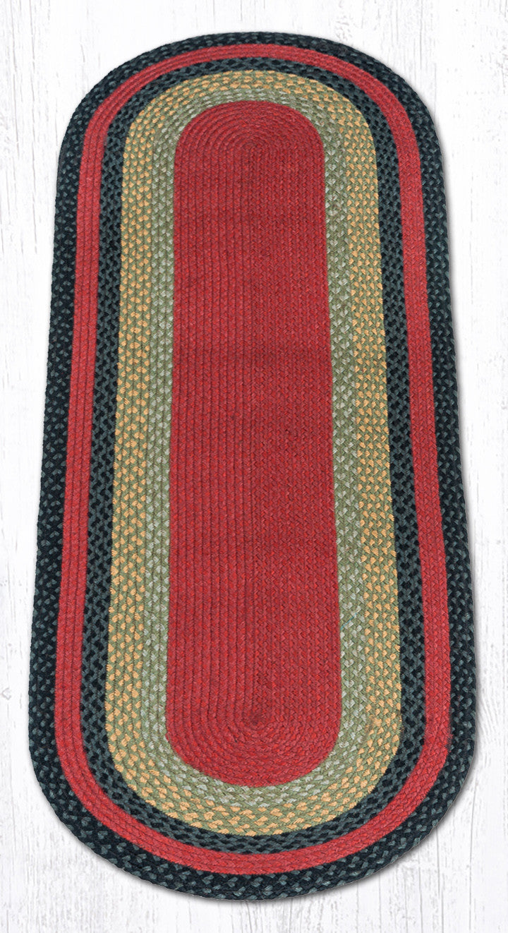 C 238 Burgundy Olive And Charcoal Braided Rug The