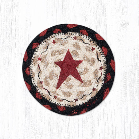 IC-019 Primitive Star Burgundy Individual Coaster