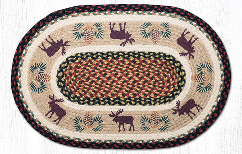 OP-019 Moose Pinecone 2 Oval Rug