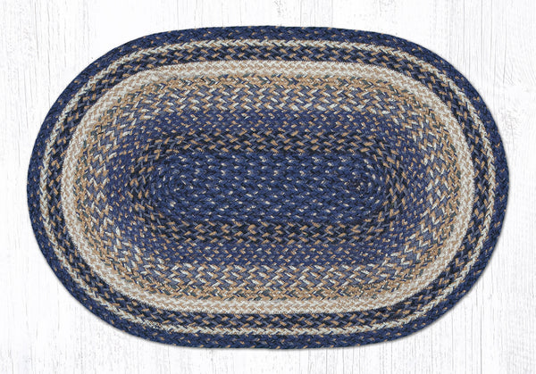 C 9 97 Deep Blue Braided Rug The Braided Rug Place