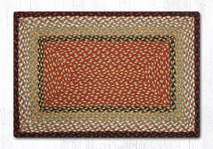 C-019 Burgundy and Mustard Braided Rug