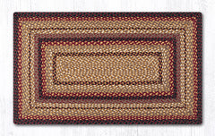 C-371 Black Cherry, Chocolate and Cream Braided Rug