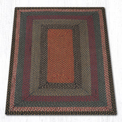 C-043 Burgundy, Blue and Gray Braided Rug