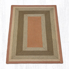 C-024 Olive, Burgundy and Gray Braided Rug