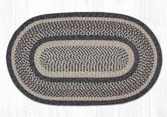 C 9-93 Black and Tan Braided Rug