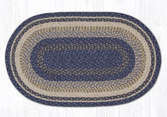 C 9-97 Deep Blue Braided Rug