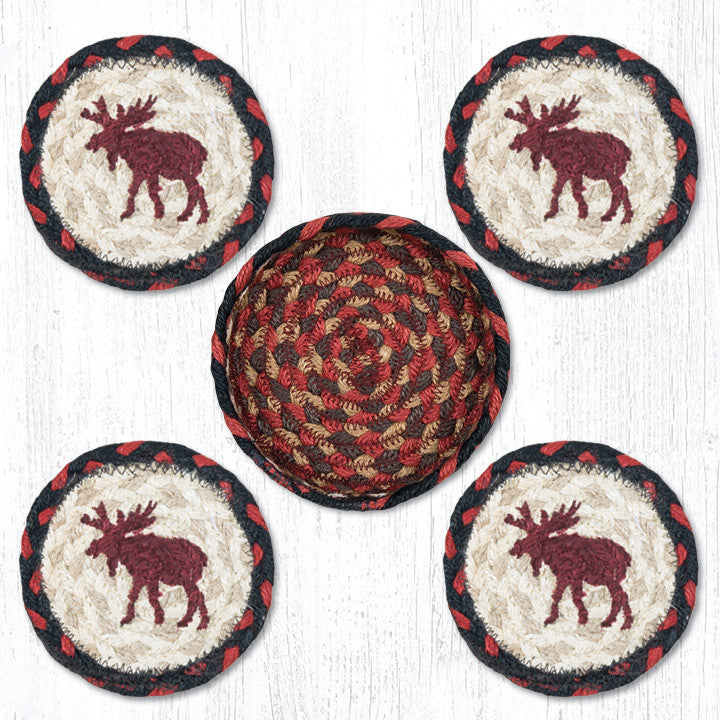 CNB-019 Moose Coasters In A Basket