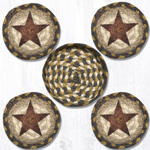 CNB-051 Star Coasters In A Basket