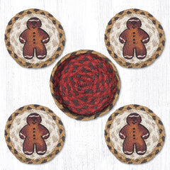 CNB-111 Gingerbread Man Coasters In A Basket