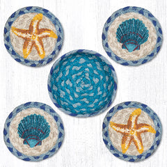 CNB-378 Star Fish Scallop Coasters