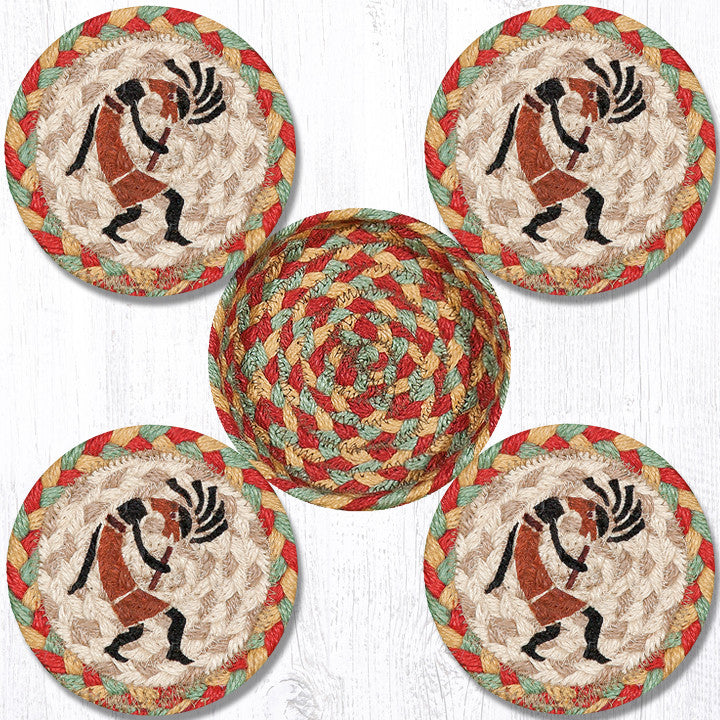 CNB-466 Kokopelli Coasters In A Basket
