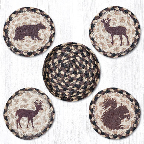CNB-518 Wildlife Coasters In A Basket