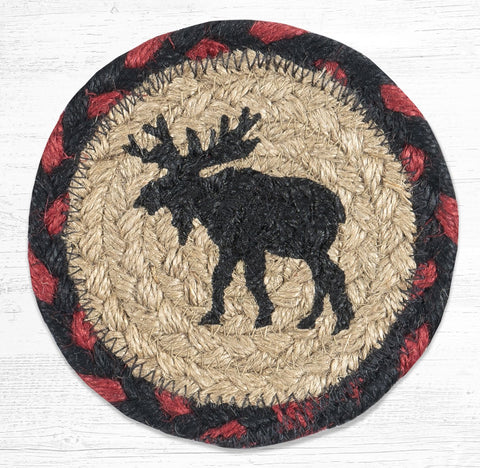 IC-019 Black Moose Individual Coaster