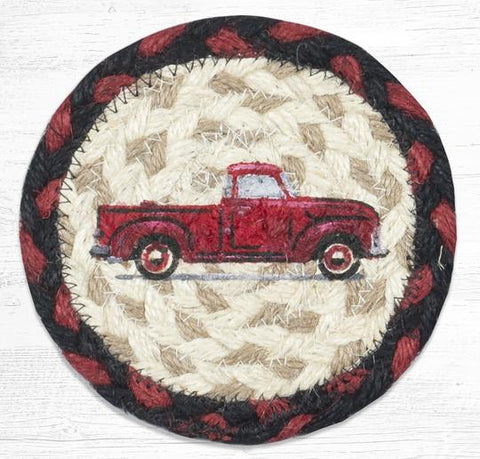 IC-019 Vintage Red Truck Individual Coaster