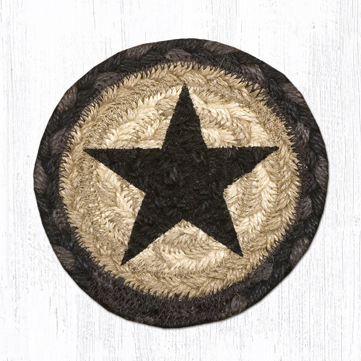 IC-238 Black Star Individual Coaster