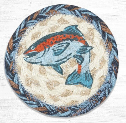 IC-443 Blue Fish Individual Coaster