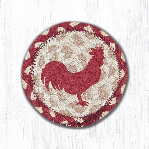 IC-519 Red Rooster Individual Coaster