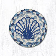 IC-525 Blue Scallop Individual Coaster