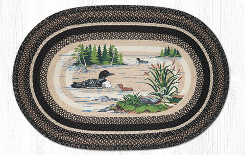 OP-313 Loons Oval Rug 4'x6' Oval