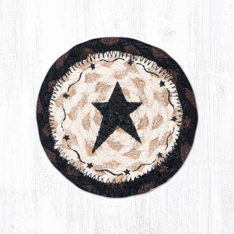 IC-313 Primitive Star Black Individual Coaster