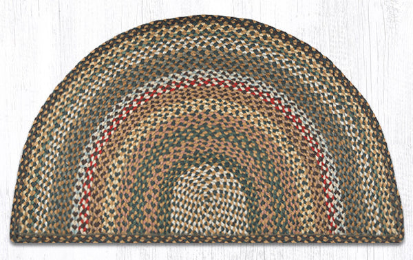 Sc 051 Fir Ivory Braided Slice The Braided Rug Place