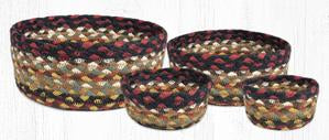 CB-319 Burgundy/Mustard/Ivory Braided Baskets