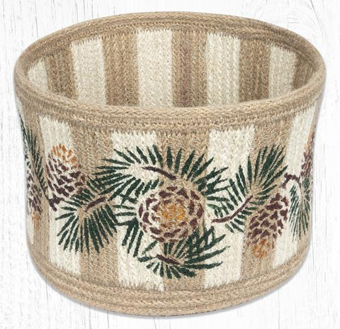RNB-01 Pinecone Natural Rope Braided Basket 9